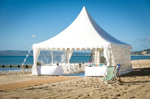 Wedding marquee hire Dorset - Bournemouth beach courtesy ianH.co.uk