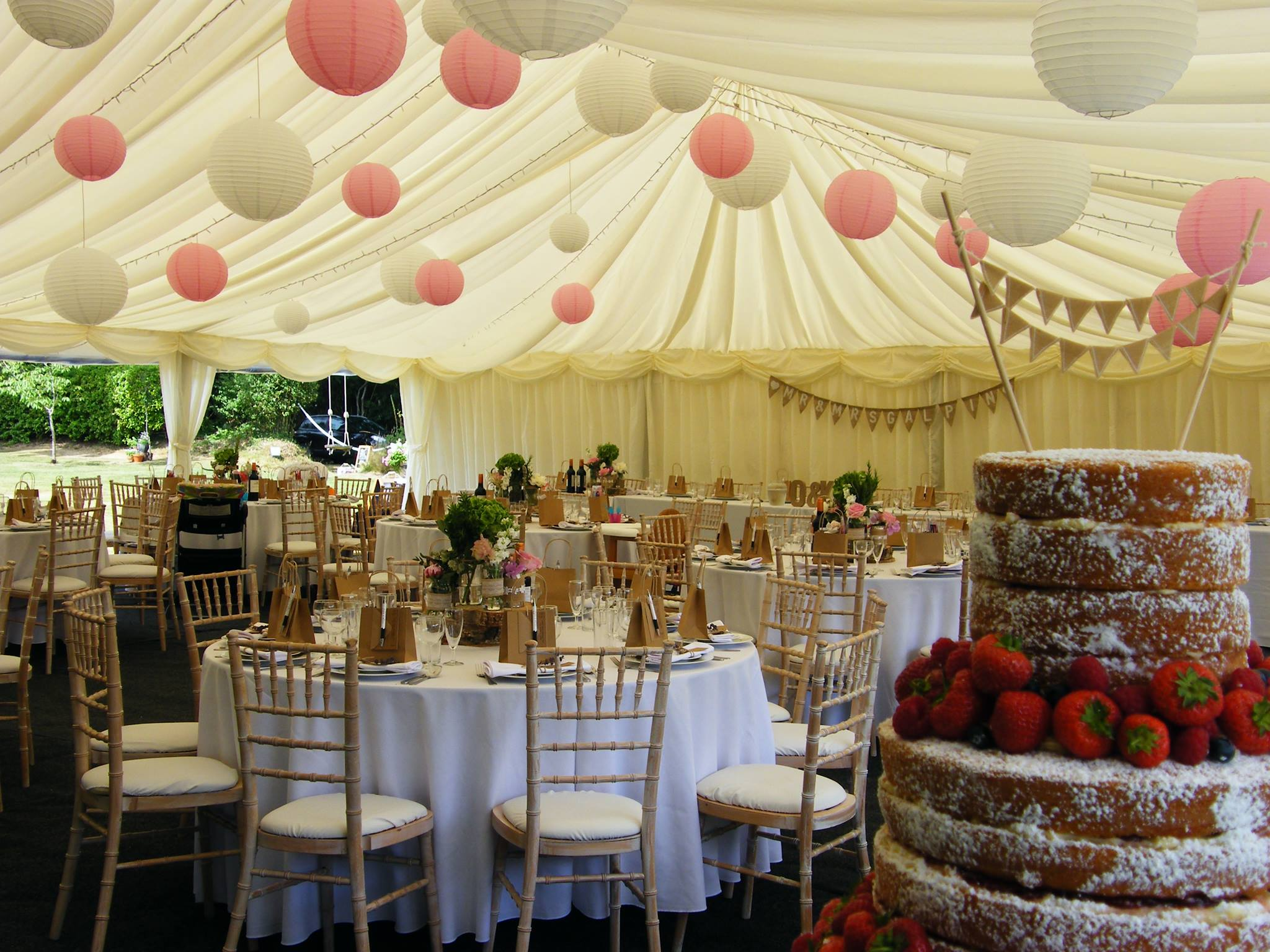 White paper lanterns with lights - Paper Lanterns Maidmans Marquees Lighting
